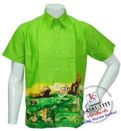 เสื้อเชิ้ตเขาพระวิหาร ชาย/สีเขียว รหัส S17S01
