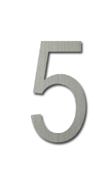 ตัวเลขสแตนเลส 5