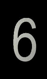 ตัวเลขสแตนเลส 6