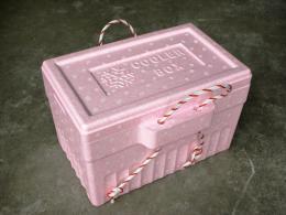 กล่องโปลิโฟมปิกนิกเล็กมีหูหิ้ว สีชมพู, ฟ้า