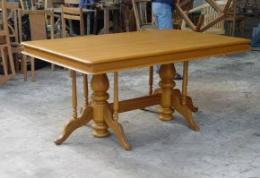 โต๊ะอาหารไม้สัก หน้าไม้อัดสัก