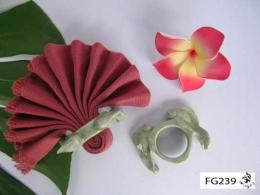 ที่รัดผ้าเช็ดปากปลาทองคู่สำหรับสองที่ FG239
