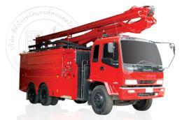 รถดับเพลิงถังน้ำในตัวติดตั้งอุปกรณ์ช่วยกู้ภัย