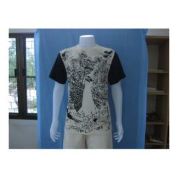เสื้อทีเชิ้ตสกรีนรูปนกยูง 1950
