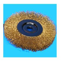 WIRE WHEEL BRUSHE (แปรงกลมบาง) สีทอง