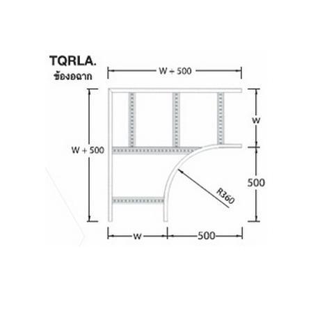 ข้องอฉาก Horizental 90 Elbows (TQRLA)