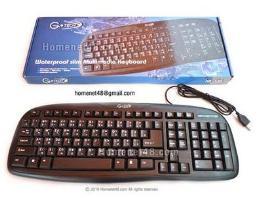 คีย์บอร์ด Slim Keyboard Gtech-536