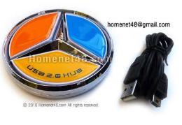 หัวต่อยูเอสบี USB HUB 4 Port Benz
