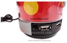 หัวต่อยูเอสบี USB HUB 2.0 (4 Port) มีไฟ เป็นลำโพง