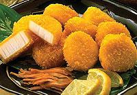 หอยเชลล์เทียมชุบเกล็ดขนมปัง (เนื้อปลาบดปรุงแต่ง)