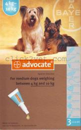แอดโวเคด ด๊อก(3 x 1.0 ml ) สำหรับสุนัขน้ำหนัก 4-10 กก. (1