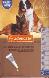 แอดโวเคด ด๊อก(3 x 4.0 ml ) สำหรับสุนัขน้ำหนัก 25-40 กก.