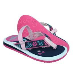 รองเท้าเด็ก Naples สีชมพูลายดำ
