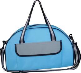 กระเป๋าสะพายผ้า 300 D สีฟ้าแบบสมส่วน