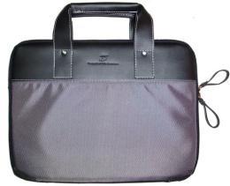 กระเป๋าใส่ notebook ผ้า 1680 สลับหนังดีไซด์เก๋