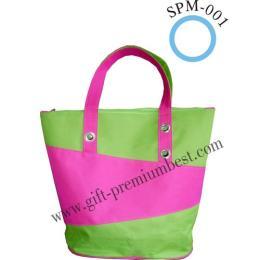 กระเป๋าชอปปิ้งBag ผ้า 600 D ตัดต่อผ้าสีสันสดใส