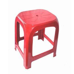 เก้าอี้พลาสติก สตูลเหลี่ยม แดง