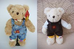 ตุ๊กตาหมีใส่ชุดเอี๊ยม