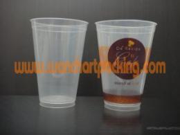 แก้ว PP แข็ง 16oz. สีใส/ขาว U90