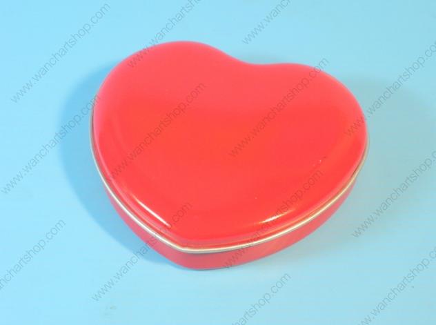 กล่องเหล็ก กล่องหัวใจกลาง สีแดง (BJM-B2-2)