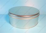 กล่องเหล็ก กล่องมาติเน่กลม สีเงินเนื้อทราย (BJM-B8-1)