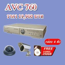 เครื่องบันทึกกล้องวงจรปิด AVC-760