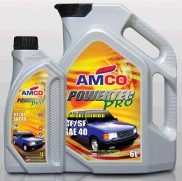 น้ำมันหล่อลื่นเครื่องยนต์ดีเซล AMCO เพาเวอร์เทค โปร 6 L