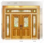 ประตู Stained Glass FRT002