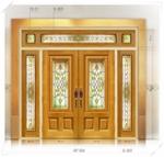 ประตู Stained Glass FRT004