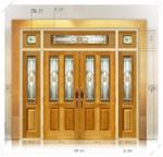 ประตู Stained Glass FRT011