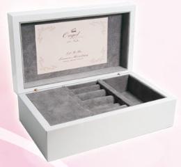 กล่องไม้โอ๊คสีขาว