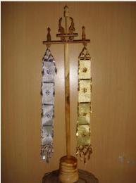 ตุงเงิน ตุงทองพร้อมฐานใหญ่ CT004