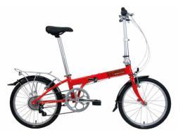 จักรยานพับ รุ่น Bullet D6 สีแดง