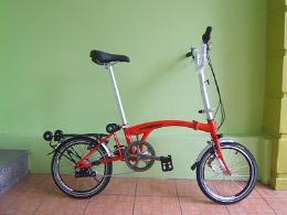 จักรยานพับ รุ่น FL-BP01-7 สีแดง