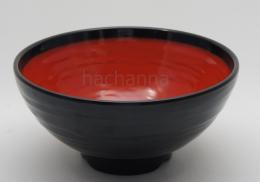 ชามราเมนสีดำแดงสไตล์ญี่ปุ่น
