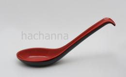 ช้อนซุปสไตล์ญี่ปุ่นสีแดงดำ