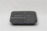 กล่องอาหาร 3 ช่อง วัสดุ PP (แพ็ค)