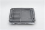 กล่องอาหาร 4 ช่อง วัสดุ PP (แพ็ค)