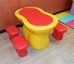 ชุดโต๊ะ พร้อมเก้าอี้สตูล 4 ตัว LHD161C