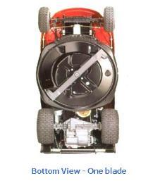 รถตัดหญ้านั่งขับ Bottom View One Blade