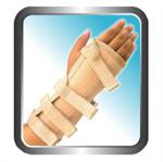 เฝือกรัดข้อมือ Wrist Splint Brown (2 sides-in-1)  002