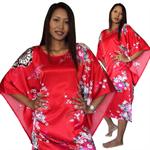 ชุดนอนญี่ปุ่นสีแดง  NR5