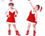 ชุดซานต้าเด็กผู้หญิง  XD010