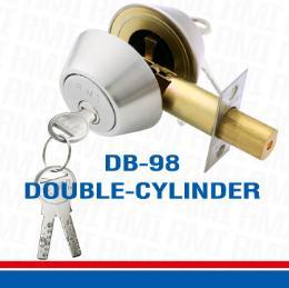 กุญแจลูกบิดระบบลิ้นล็อคตายกุญแจ 2 ข้าง DB-98 DOUBLE-CYLINDER