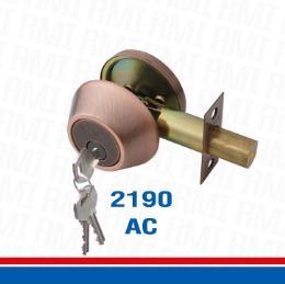 กุญแจลูกบิดระบบลิ้นล็อคตาย 2190 AC