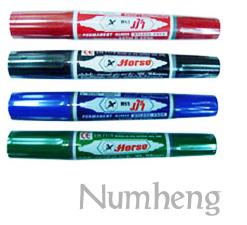 ปากกามาร์คเกอร์ 2 หัว ตราม้า รหัสสินค้า- 000094