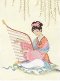 ชุดปักครอสติชหญิงสาวจีน NTC-01