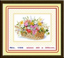 ชุดปักครอสติชตะกร้าดอกไม้ CC-156