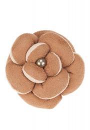 เซอร์เคิล เฟอร์เฟคต้า ยางมัดผมรูปดอกไม้ - น้ำตาลอ่อน
