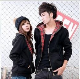 เสื้อคู่รักกันหนาวแขนยาวใส่ได้ 2 ด้านสไตล์เกาหลี TS120